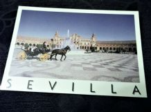 GLOSS PHOTO POSTCARD SEVILLA PLAZA ESPANA EDICIONES 836 HORSE CARRIAGE
